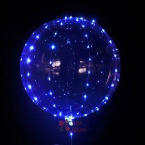 Светящийся кристальный шар Bubbles с голубой светодиодной лентой