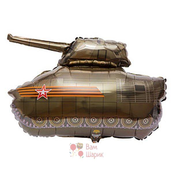 Фольгированная фигура танк коричневый