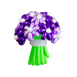 Букет из шаров ромашки фиолетовые (15 шт)