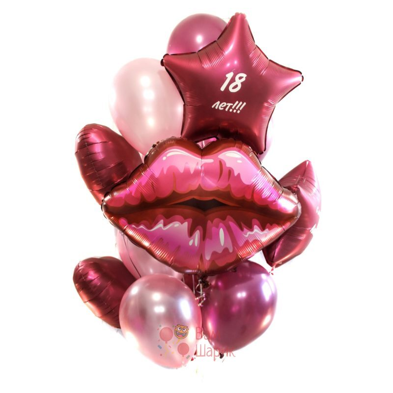 Композиция из фольгированных шаров на День Рождения!