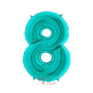 Шар цифра 8 мятная
