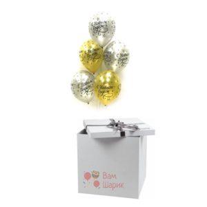 Облако шаров С Новым годом! в коробке