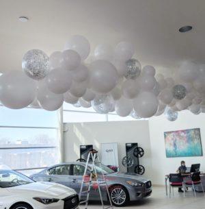 Оформление шарами облако из разноразмерных шаров под потолок 1 кв.м