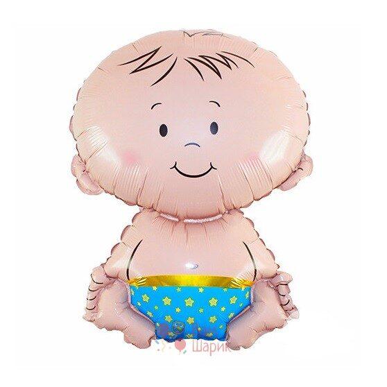 Фольгированная фигура малыш мальчик