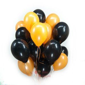 Облако черных и оранжевых шаров