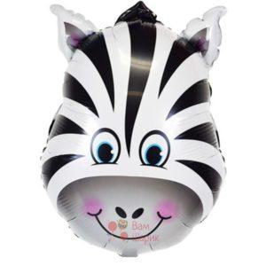 Фольгированная фигура голова зебры