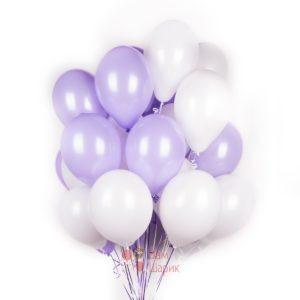 Облако бело-фиолетовых шаров