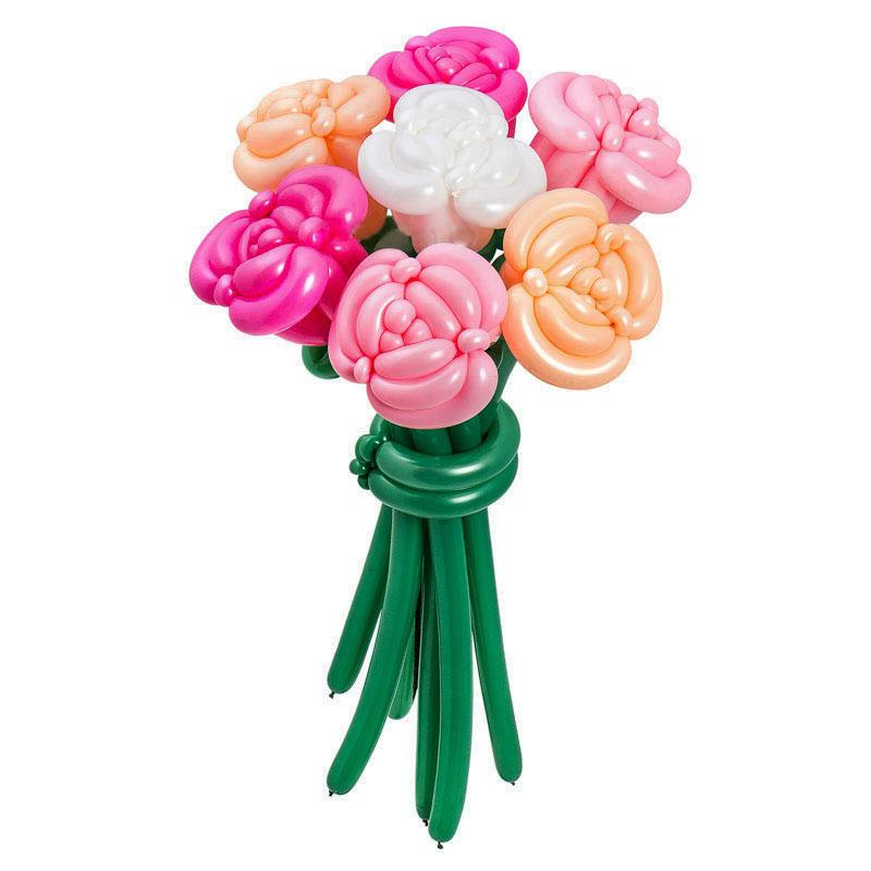 Цветы из шаров - розы - 1 шт.