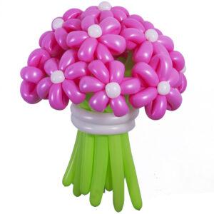 Цветы из шаров - розовые ромашки - 1 шт.