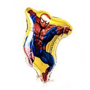 Фольгированная фигура Человек паук золотой