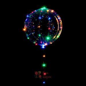 Светящийся кристальный шар Bubbles со светодиодной лентой