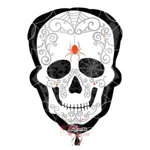 Фольгированный шар голова скелет