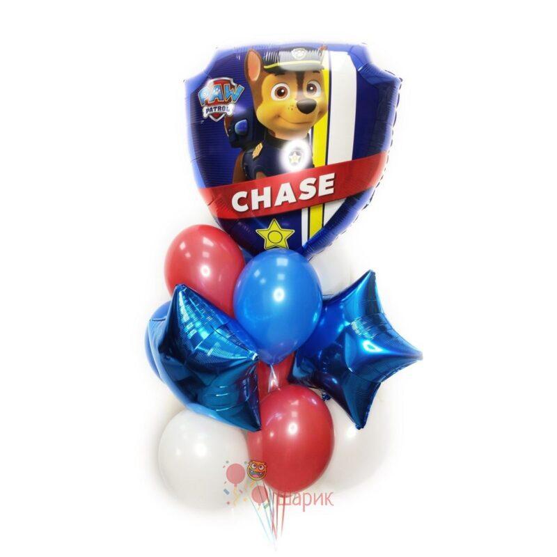 Композиция Щенячий патруль с большим шаром Чейз