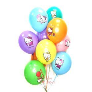 Облако разноцветных шаров Hello Kitty
