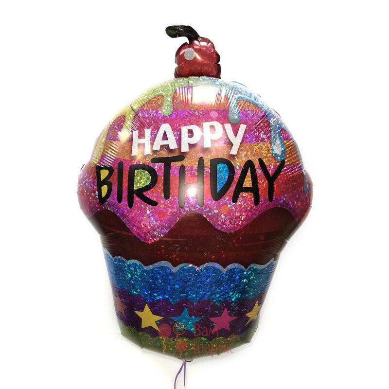 Фольгированная фигура кекс на День Рождения
