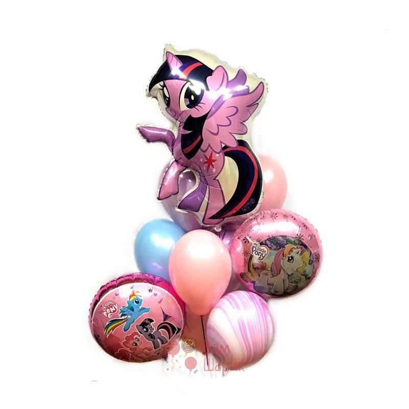 Композиция из шаров My little pony c Сумеречной Искоркой