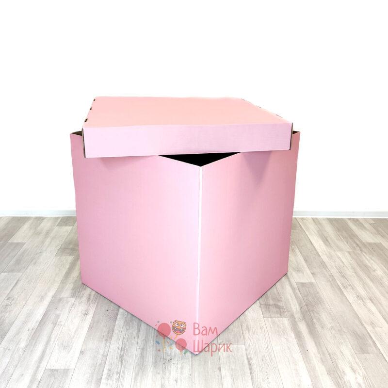 Коробка розовая для шаров 70*70*70