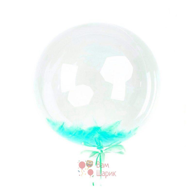 Кристальный шар Bubbles с мятными перьями