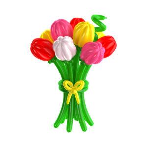 Цветы из шаров - тюльпаны - 1 шт.