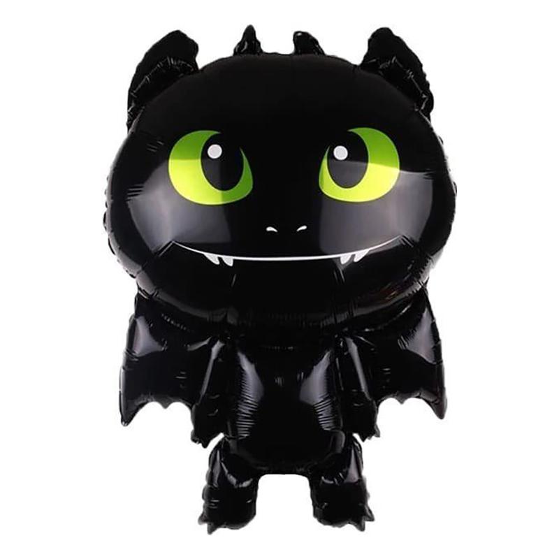 Фольгированная фигура черный дракончик