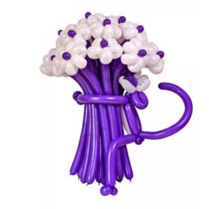 Цветы из шаров - белые ромашки - 1 шт.