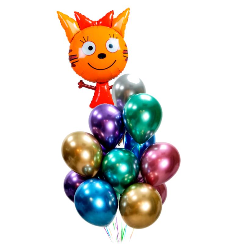 Композиция из хромированных шаров с Карамелькой
