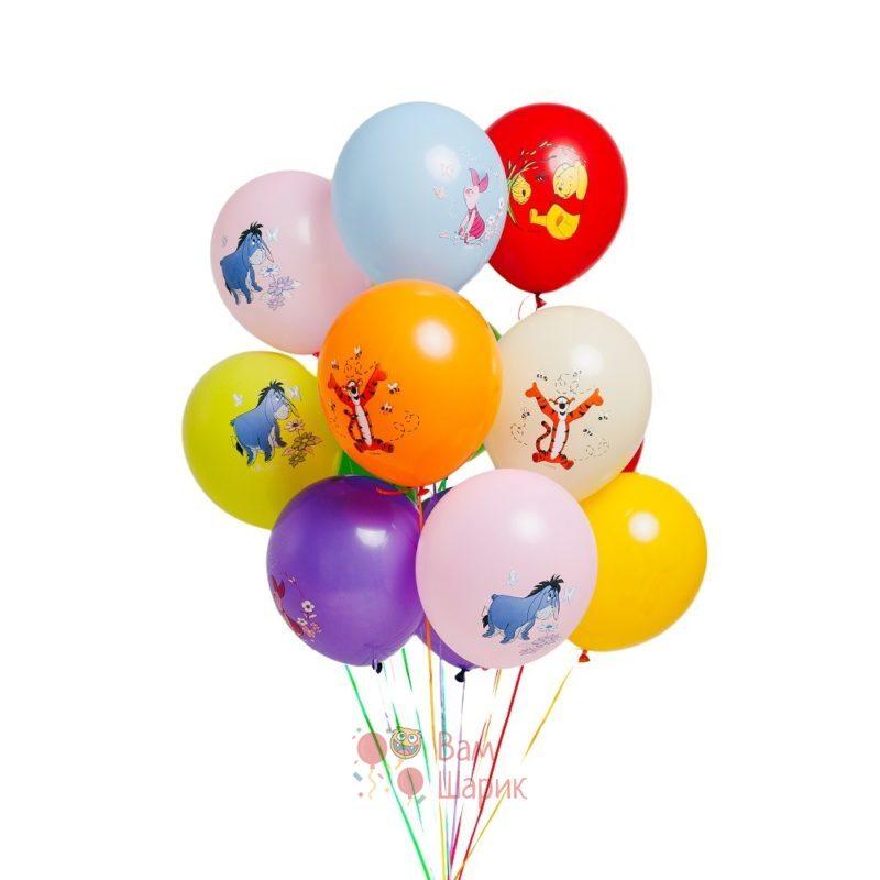 Облако разноцветных шаров Винни пух и друзья