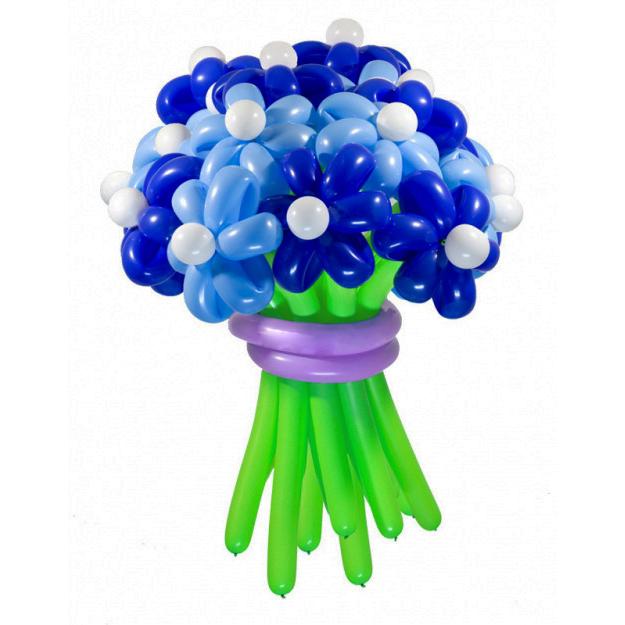 Цветы из шаров - ромашки синие - 1 шт.